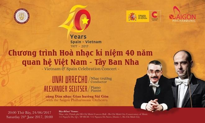 Concierto musical conmemora el 40 aniversario de nexos Vietnam-España - ảnh 1