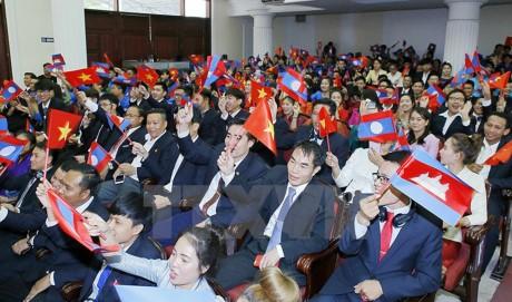 Jóvenes de Vietnam, Laos y Camboya determinados a consolidar las relaciones entre los tres países - ảnh 1