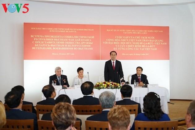 Mandatario vietnamita inicia su agenda de trabajo en la República de Bielorrusia - ảnh 1