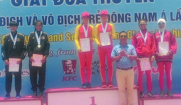 Vietnam triunfa en el campeonato de remo del Sudeste Asiático - ảnh 1