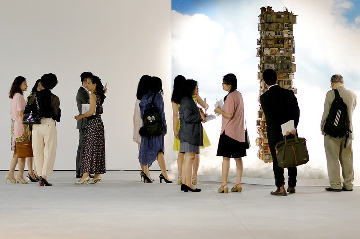 Vincom (Hanoi) ofrece nuevo lugar de cita del arte contemporánea - ảnh 2