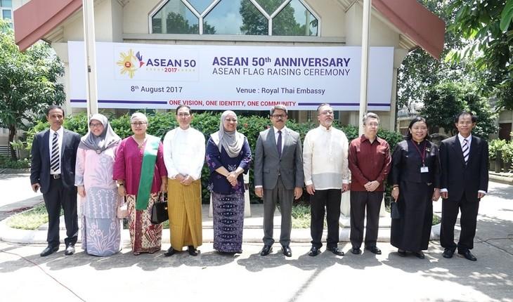 Miembros de Asean en Bangladés celebran el 50 aniversario de la fundación del bloque - ảnh 1