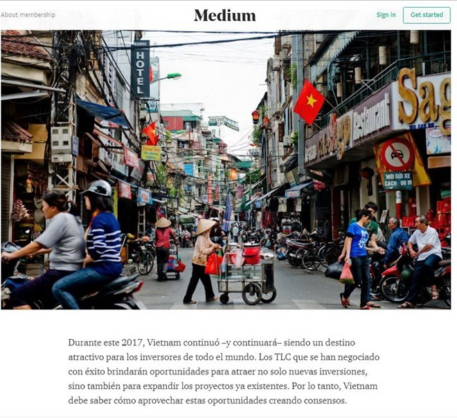 Prensa internacional elogia el papel de Vietnam con motivo del APEC 2017 - ảnh 1