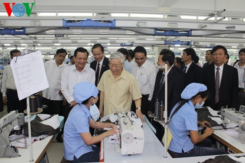 Party leader Nguyen Phu Trong works with Da Nang authorities - ảnh 1