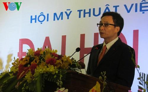 National congress of Vietnam Fine Arts Association opens - ảnh 1
