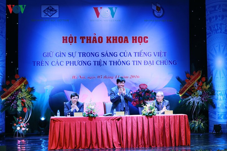 VOV works to preserve, uphold Vietnamese language value - ảnh 1