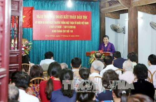 Government, NA leaders attend great national unity festival in Hanoi - ảnh 2