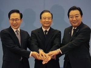 日中韓首脳、FTA年内交渉開始で合意へ  - ảnh 1
