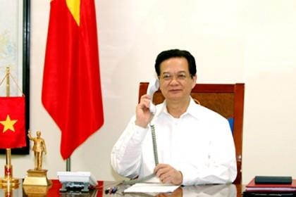 ズン首相、安倍総理と電話会談 - ảnh 1