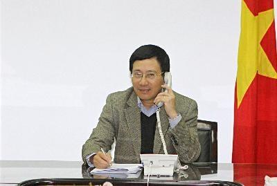 ミン副首相、中国国務院外交部長と電話協議 - ảnh 1
