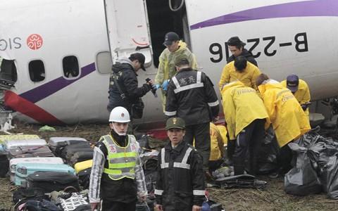 台湾機墜落 エンジン出力低下の操作か - ảnh 1