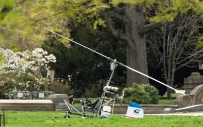 米議会敷地に小型ヘリ侵入、操縦の郵便局員逮捕 - ảnh 1