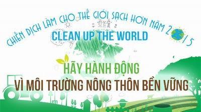 「世界をよりきれいにするキャンペーン」2015に応援する式典 - ảnh 1