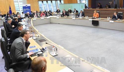 EUとバルカン諸国が難民対策で合意、施設提供や登録強化 - ảnh 1