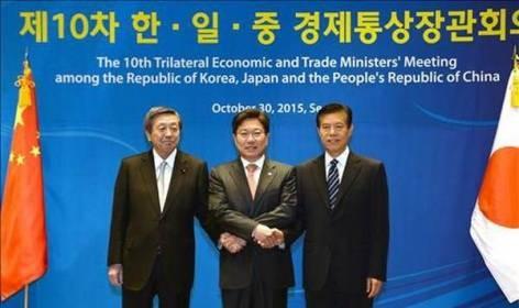 日中韓貿易相会合、ソウルで30日開幕 3年ぶり - ảnh 1