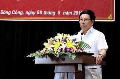 ミン副首相兼外相、タイグェン省の有権者と会合 - ảnh 1