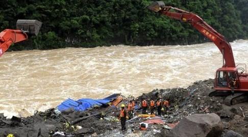 中国南部で大規模な土砂崩れ 41人行方不明 - ảnh 1