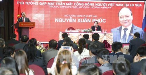 フック首相、ロシア在留ベトナム共同体代表と会見 - ảnh 1