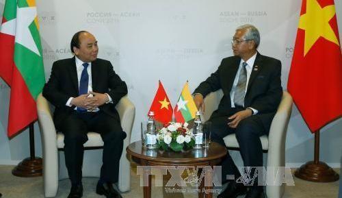 フック首相、ASEAN加盟諸国の指導者と個別会見 - ảnh 1