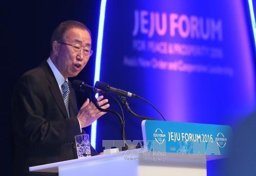 国連の潘基文事務総長、南北対話促す  - ảnh 1