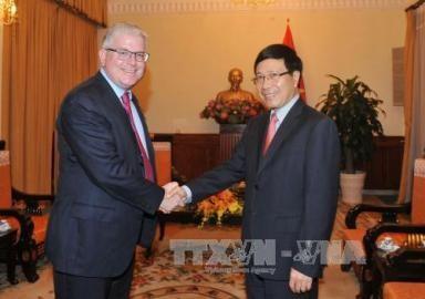 ミン副首相兼外相、在ベトナム豪の新大使と会見 - ảnh 1