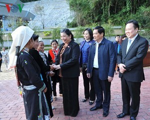 トン・ティ・フオン国会副議長、カオバン省を訪れる - ảnh 1