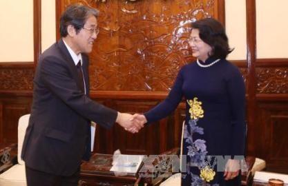 ティン国家副主席、在ベトナム日本国の梅田大使と会見 - ảnh 1
