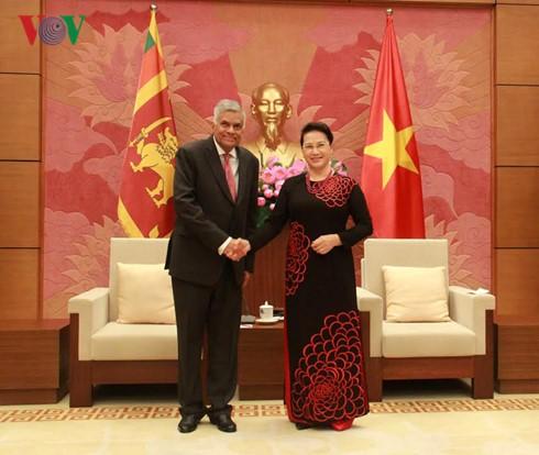ガン国会議長、スリランカ首相と会見 - ảnh 1