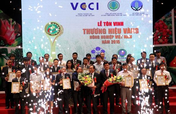 越南首次表彰农业黄金品牌 - ảnh 1