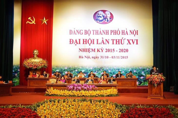 越南共产党河内市第十六次代表大会开幕 - ảnh 1