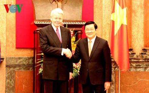 越南国家主席张晋创与冰岛总统举行会谈 - ảnh 1