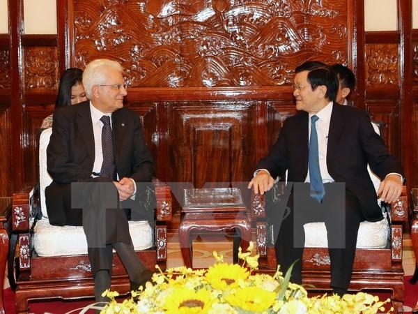 意大利总统马塔雷拉圆满结束对越南的国事访问 - ảnh 1