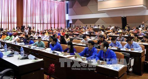 越南青年代表团出席世界民主青年联盟19次代表大会 - ảnh 1