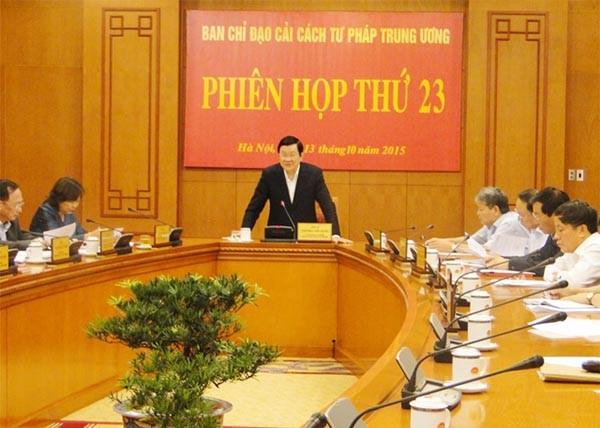 越共中央司法改革指导委员会举行第二十四次会议 - ảnh 1