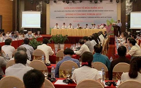 越南工商会举行2015年越韩经济论坛 - ảnh 1