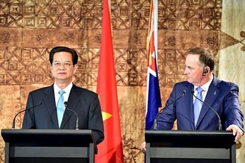 越南—新西兰发表联合声明 - ảnh 1