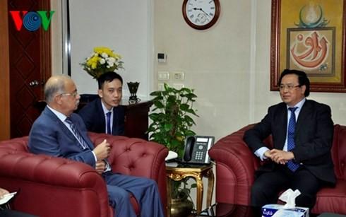越共中央委员、中央对外部部长黄平君会见埃及总理谢里夫•伊斯梅尔 - ảnh 1