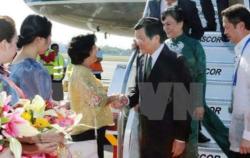 张晋创抵达马尼拉出席APEC峰会 - ảnh 1