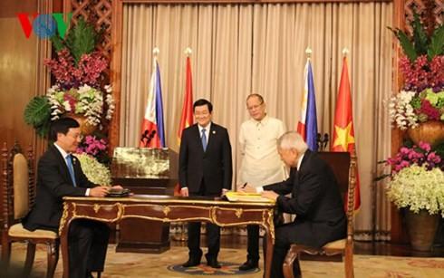越南和菲律宾发表关于建立战略伙伴关系的联合声明 - ảnh 1