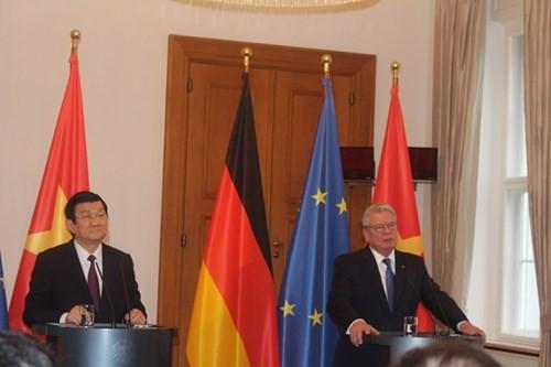 越南国家主席张晋创同德国总统高克举行会谈 - ảnh 1