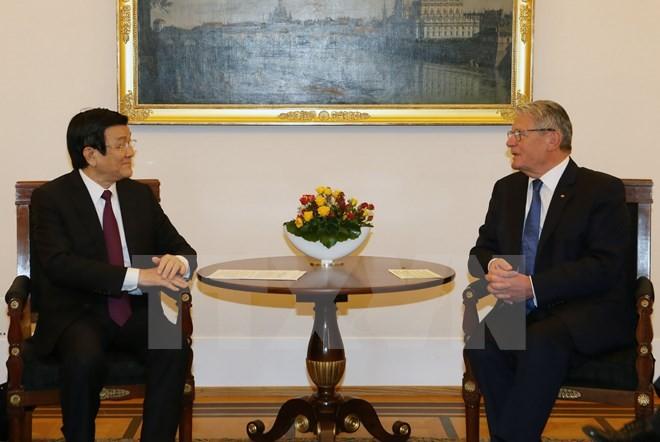 越南国家主席张晋创与德国总统高克联合举行记者会 - ảnh 1
