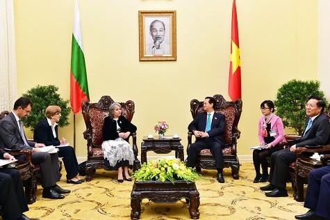 越南国会主席阮生雄和政府总理阮晋勇分别会见保加利亚副总统波波娃 - ảnh 1