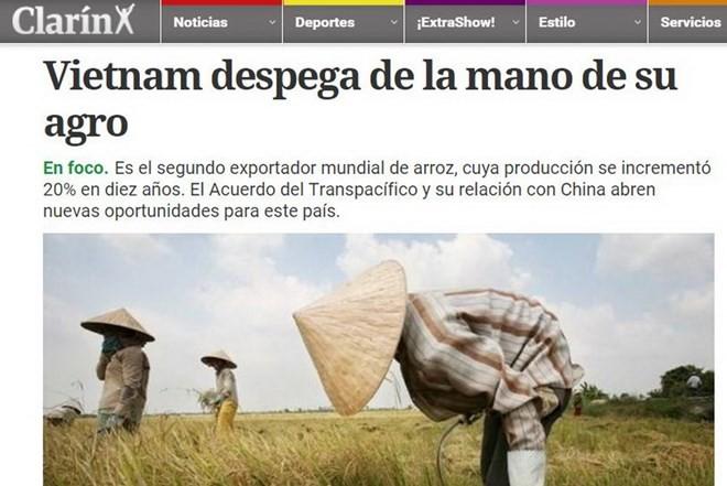 阿根廷媒体赞颂越南农业发展成就 - ảnh 1