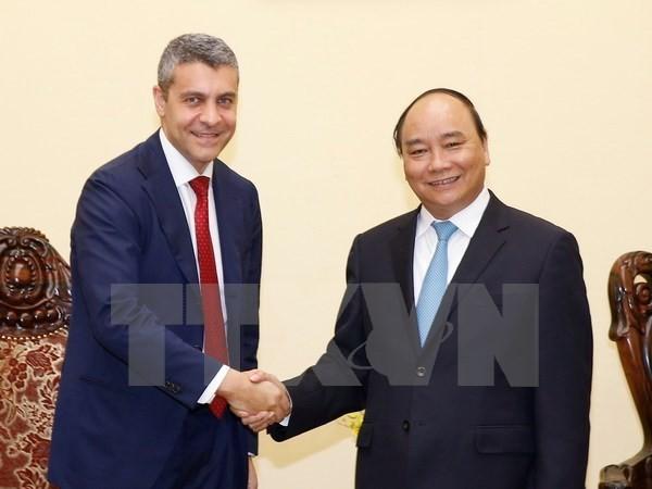 越南政府总理阮春福会见高盛集团高管 - ảnh 1
