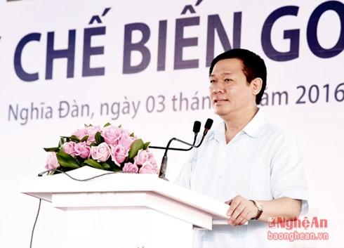 越南政府副总理王庭惠出席义安省多项重点工程的落成典礼 - ảnh 1