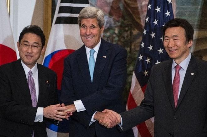 美日韩计划在纽约召开外长会谈 - ảnh 1