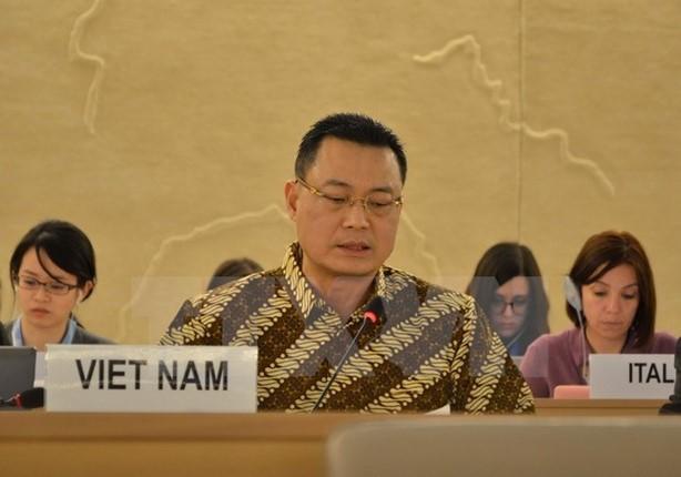越南代表东盟重申对UPR的承诺 - ảnh 1