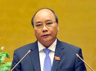 阮春福出席越南电力集团2016年工作总结会议 - ảnh 1