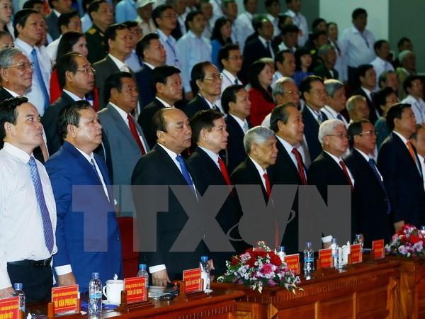 阮春福出席平福省重新建省20周年纪念大会 - ảnh 1