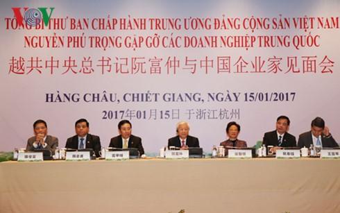 越共中央总书记阮富仲与中国企业家见面会在杭州市举行 - ảnh 1